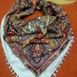 Русские платки, платок. Павлов-Посадский принт