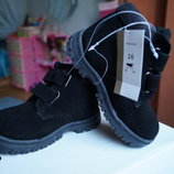 Ботинки для мальчика и девочки, зимние, замша, новые р, 25-34