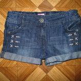 Стильные шорты F&F девочке на 5-6 лет