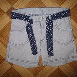 Стильные тоненькие шорты H&M девочке на 5-6,5 лет