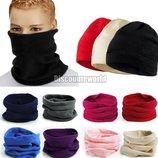 Бафф флисовый, зимний, теплый, снуд, шарф труба, шапка