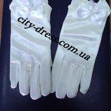 Детские нарядные перчатки с пальчиками