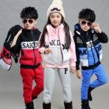 Супер тёплые детские костюмы тройка в наличии