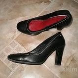 Туфли черные кожа
