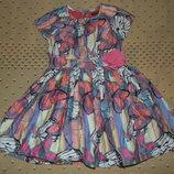 платье 3-4года котон. в отл. сост. 98-104см юбка пышно