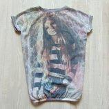 Стильная футболка для девочки. Y.D. Размер 9-10 лет. Состояние отличное
