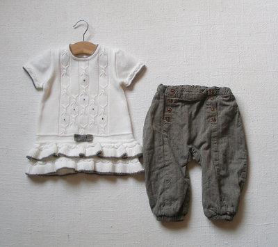 Комплект теплой одежды для девочки 9-12 мес