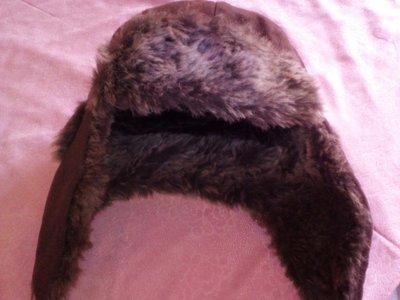 Стильная детская шапка-ушанка Golddigga с искусственным мехом