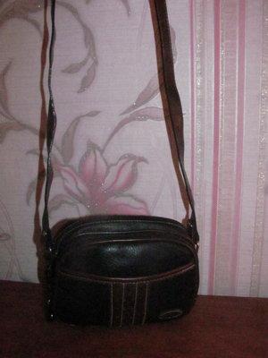 Стильная черная сумка на длинной ручке