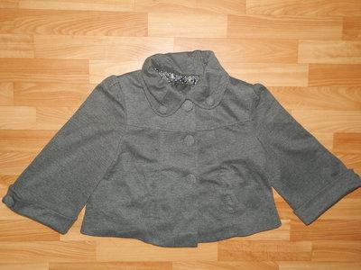 Стильная куртка-пиджак трикотажная Amisu р. 40 L