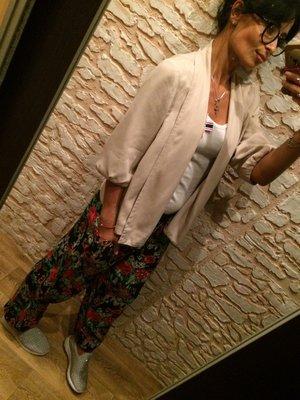 Стильные цветочные штанишки Штапель