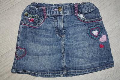 Модненькие ф.Hema джинсовые юбочки р-110-116 в хорошем состоянии