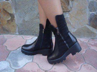 Ботинки женские зимние. S-53. натуральная кожа.