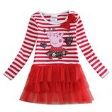 Платье с Пеппой красное в полоску TM Nova