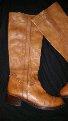 38 р- 25 см кожа эксклюзивные сапоги O Red Италия