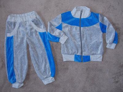 Новые велюровые костюмы на рост 86-110см