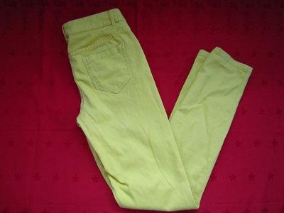 Штаны джинсы HEMA,яркий жёлтый цвет