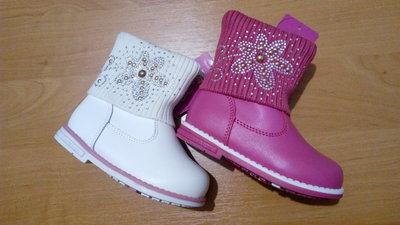 Утепленные демисезонные ботинки для девочек 21-26р