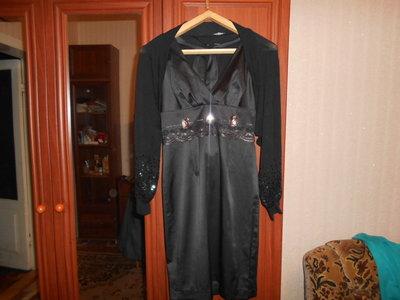 Шикарное платье с балеро 48р