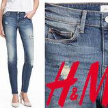 Джинсы женские рваные S, M, L фирмы H&M Швеция ассорти много фасонов