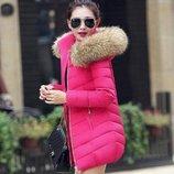 куртка женская с натуральным Мехом Енота пуховик парка зимняя