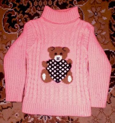свитер с мишкой теди