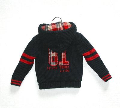 Теплая кофта-куртка для мальчика 9-12 мес