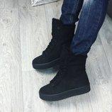 Женские зимние ботинки криперы Риана